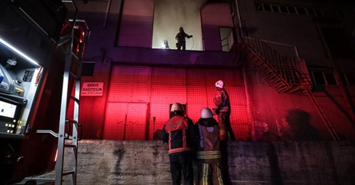 Ambalaj fabrikasında yangın paniği