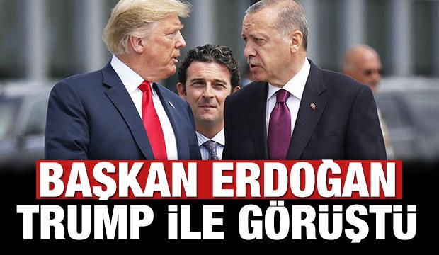 Başkan Erdoğan-Trump ile görüştü