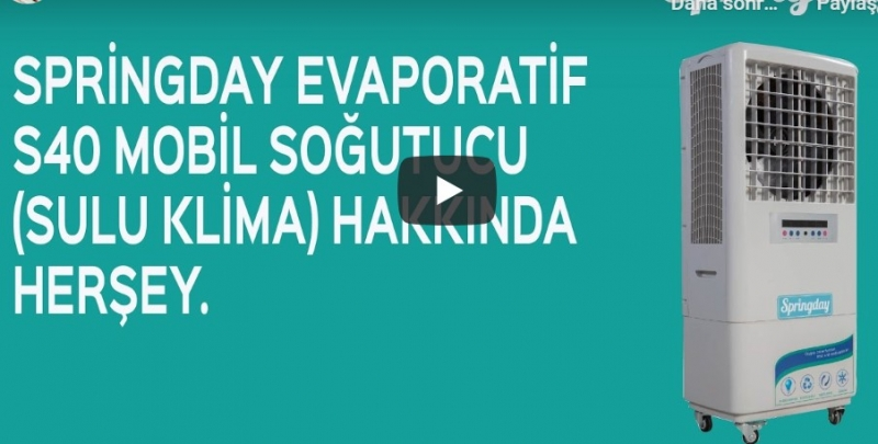 Bu video da Springday Evaporatif Soğutucu S40 modeli tanıtımı