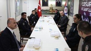 Cumhurbaşkanı Erdoğan,ÇengelköyPolis Merkezi'nde iftar yaptı