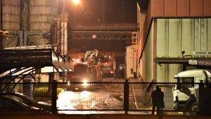 Demir döküm fabrikasında yangın paniği