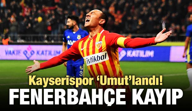 Fenerbahçe, Kayseri'de kayıp!