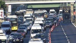 Haliç Köprüsü'nde 'bakım' trafiği