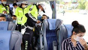 HES'i yok sayan 6 otobüse men cezası