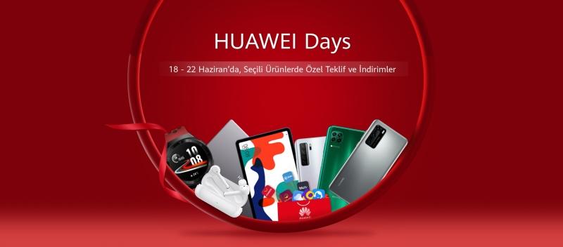 Huawei Days kapsamında birçok üründe özel teklifler kullanıcıları bekliyor