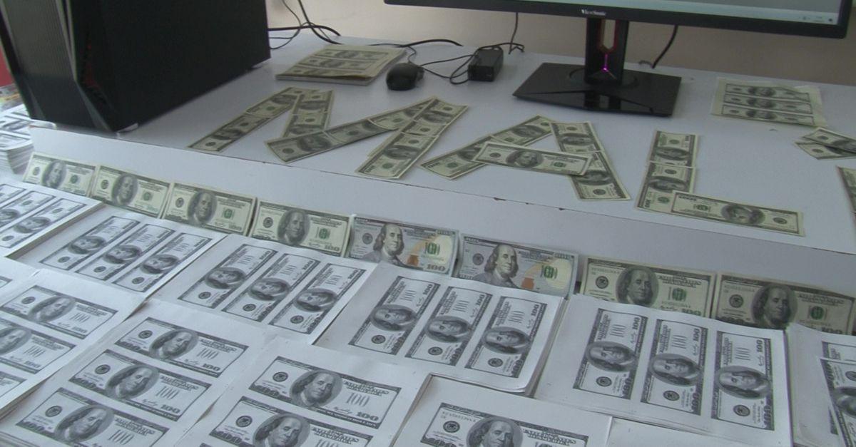 Lüks rezidansta milyonlarca sahte dolar bastılar!