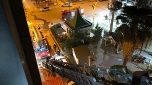 Mardin'de korkutan otel yangını: 1 ağır yaralı