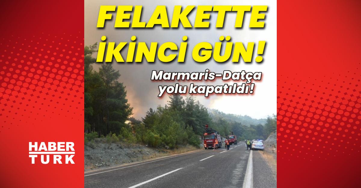 Marmaris-Datça yolu kapatıldı!