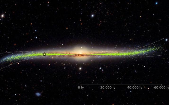Samanyolu Galaksisi'nin 3 boyutlu haritası çıkarıldı