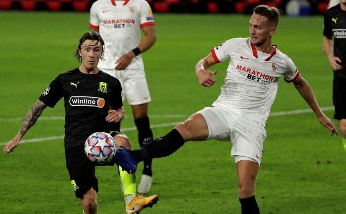Sevilla 10 kişi kaldı, pes etmedi