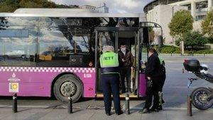 Temaslı otobüs şoförü seferde yakalandı!