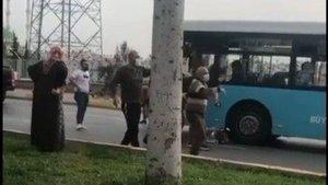 Üç çocuk annesi otobüsün altında kaldı