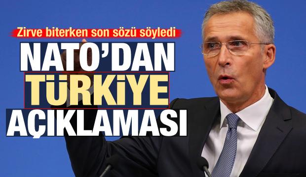 Zirve biterken son sözü söyledi! NATO'dan yeni Türkiye açıklaması
